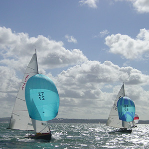 Full sail on the Solent
