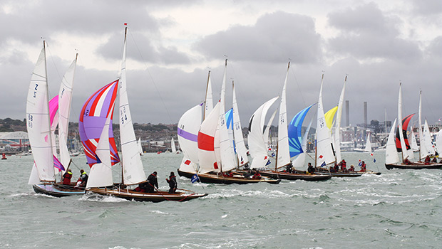 Race start in Portsmouth Harbour