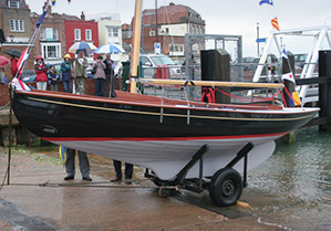 Zafirah on the Victory Class yard slipway